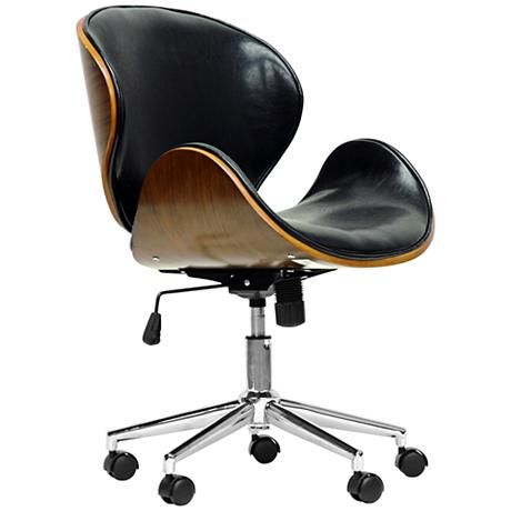 Bruce Walnut and Black Modern Office Chair
