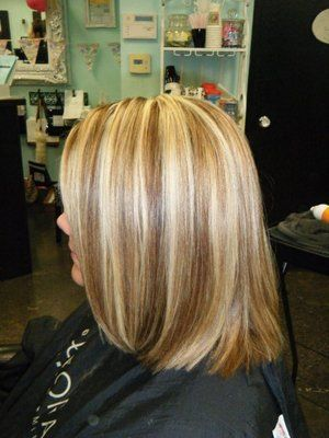 COLOR CUT (ASKED FOR CHUNKY STREAKS AND BLUNT CUT) | Yelp