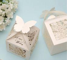 30 x европейский белый выдалбливают счастливой свадьбы голосовали коробки свадьба польза настольные украшения(China (Mainland))
