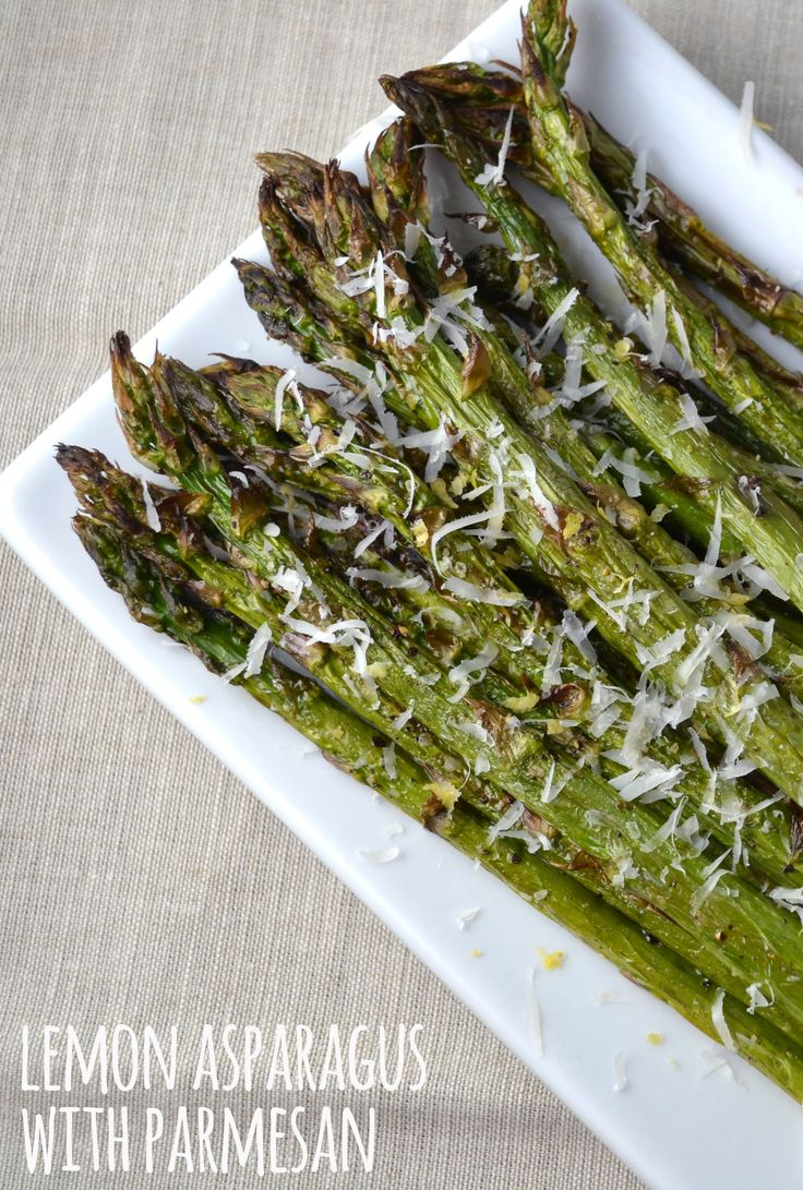 Roasting asparagus with lemon and Parmesan is a great way to turn your side dish up a notch.