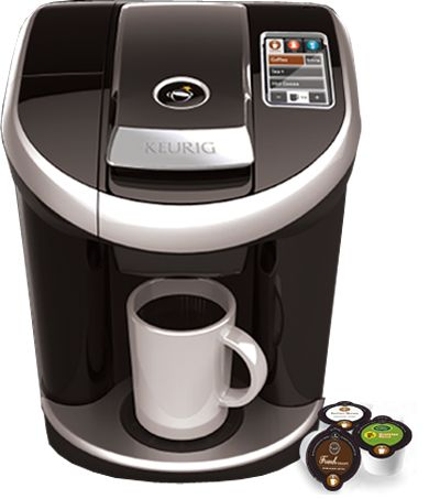 I will have to have this when my Keurig dies. Can choose size (up to 18 oz!), crank up the heat and/or strength, and brew frothy drinks!  I cannot wait!
