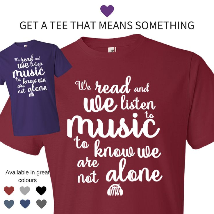 Our T-shirts can't be found anywhere else. They are exceptional quality, with beautiful quotes that make others stop and think about the importance of music. Find them in our store on musictalks.xyz