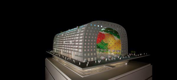 #architecture #maquette #rotterdam #modelmaking #MBM #MVRDV #markthal