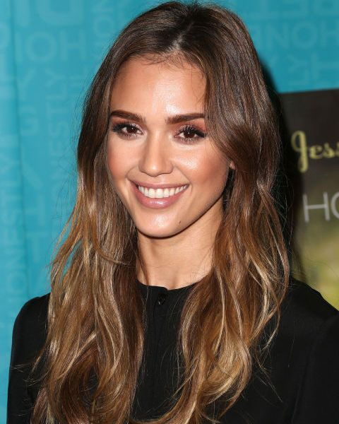 The ultimate light brown balayage, we'll be looking to Jessica Alba for hair inspo forever.