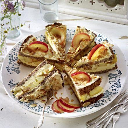 Schwedische Apfel-Mandel-Torte