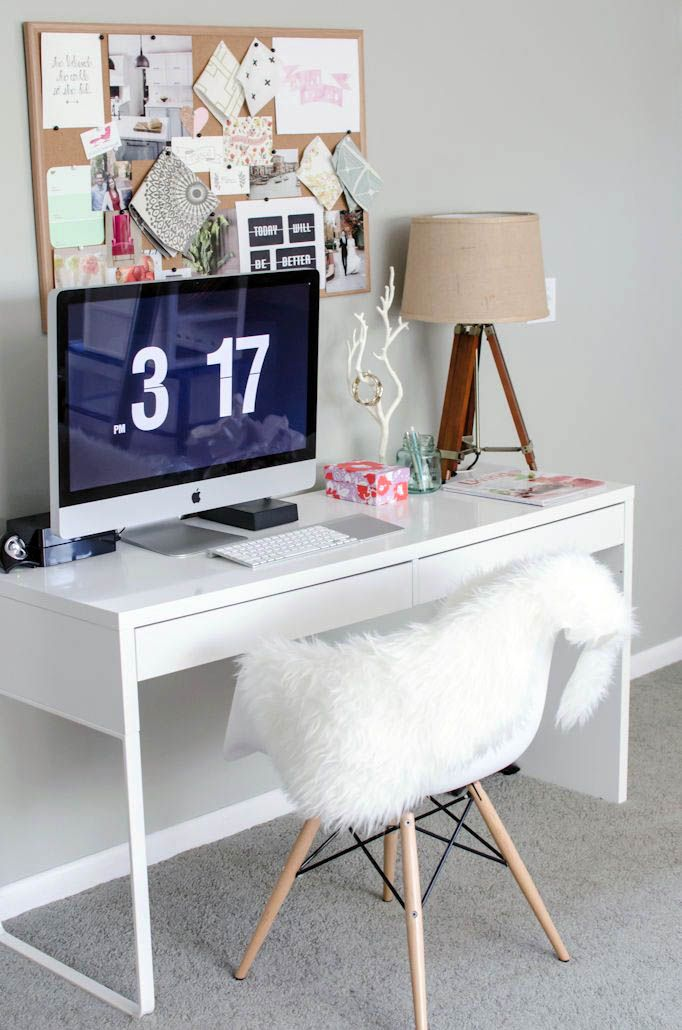 Tips For Spectacular White Desk Pad That Will Blow Your Mind Home Office Decor Micke Desk Home Office Design