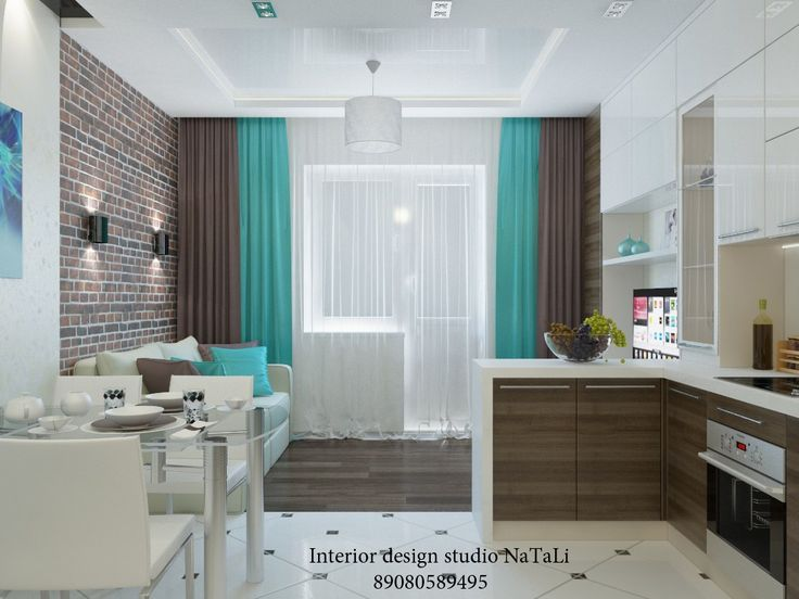 Дизайн интерьера квартиры — студии
