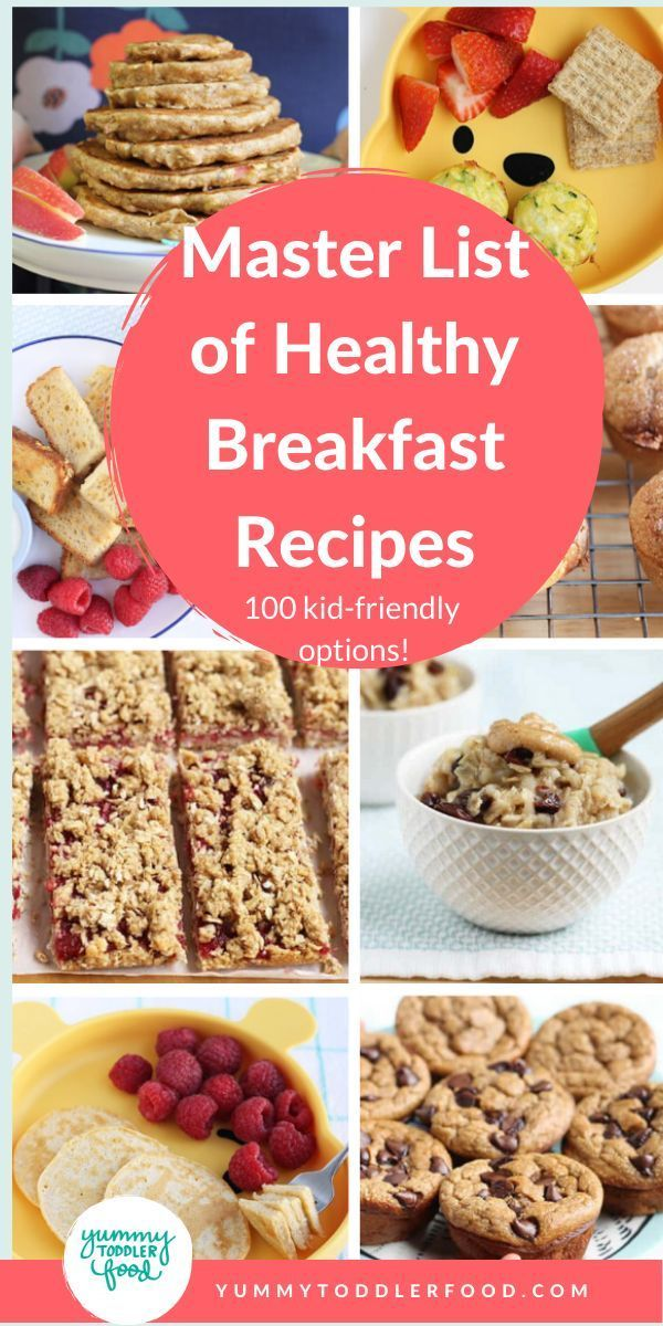 Master List Of Breakfast Recipes For Kids 100 Easy Ideas Healthy Breakfast For Kids Breakfast Recipes Kids Meals