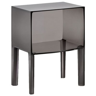 Ghost Nightstand Color: Transparent Fumé - http://delanico.com/nightstands/ghost-nightstand-color-transparent-fum-590306689/