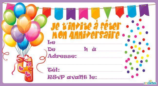 Carte D Invitation Anniversaire Fille 10 Ans Gratuite A Imprimer Un Carte Invitation Anniversaire Cartes Invitation Anniversaire Enfant Invitation Anniversaire