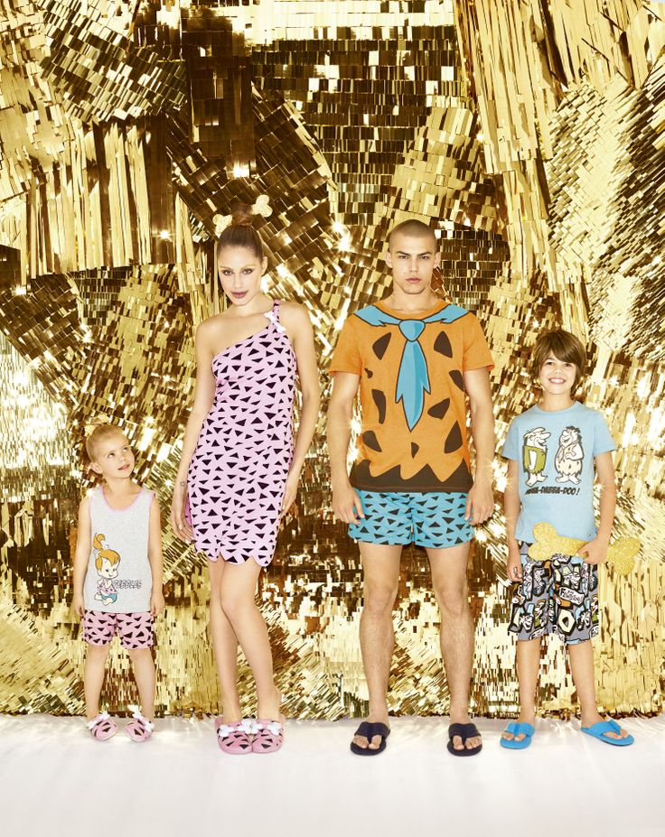 #peteralexander #flinstones #family #pyjamas #gold