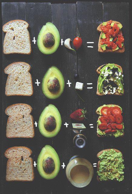 I 4 migliori avocado toast: bruschetta, alla greca, primaverile e all'hummus.