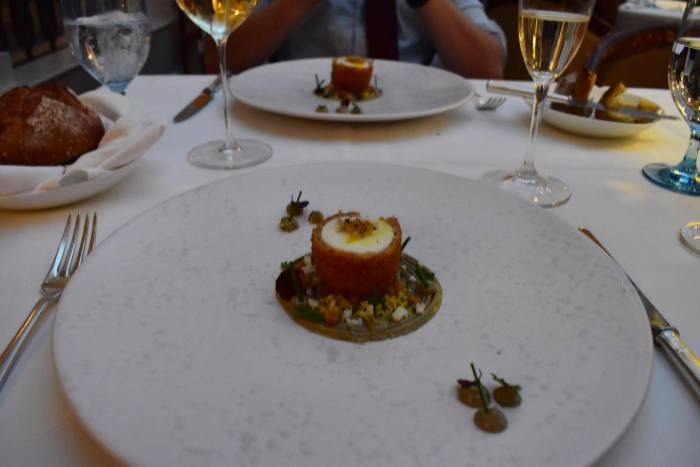 The Burford Brown Egg Starter at Celeste at the Lanesborough Hotel in London