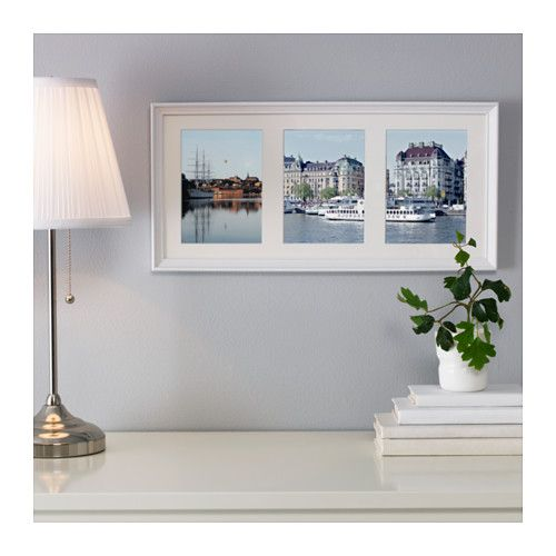 KNOPPÄNG Frame for 3 pictures, white stained