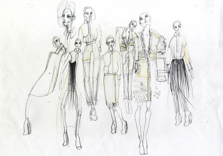 Fashion Sketchbook - fashion illustrations; fashion design sketches; fashion portfolio // Isabell Yalda Hellysaz