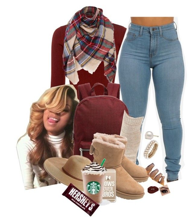"""fall"" by trending-boo ❤ liked on Polyvore featuring A.L.C., Herschel Supply Co., UGG, Melissa Odabash, Anne Klein, Casetify and Hershey's"