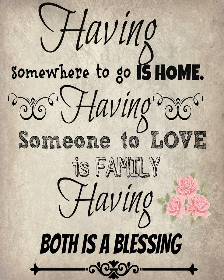 #vintage family and #home quote #free #printable
