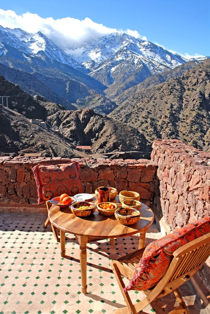 Kasbah Du Toubkal, an incredible fortress in the mountains of Morocco #nature #travel