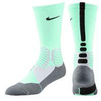 Nike Hyper Elite Basketball Crew Socks - Men's - Light Green