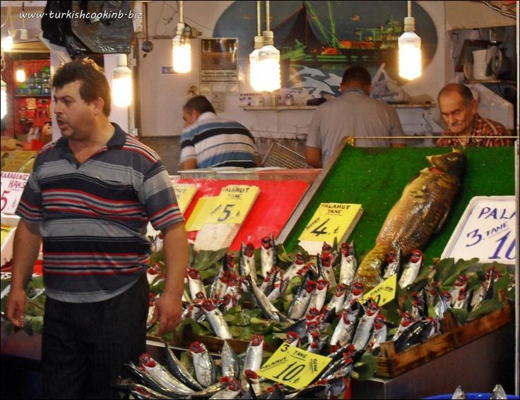 Fresh Palamut for Sale at the Adapazari Fish Market Turkey