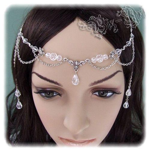 Crystal Celtic Princess Circlet Meval Headpiece Headdress Wedding Bridal