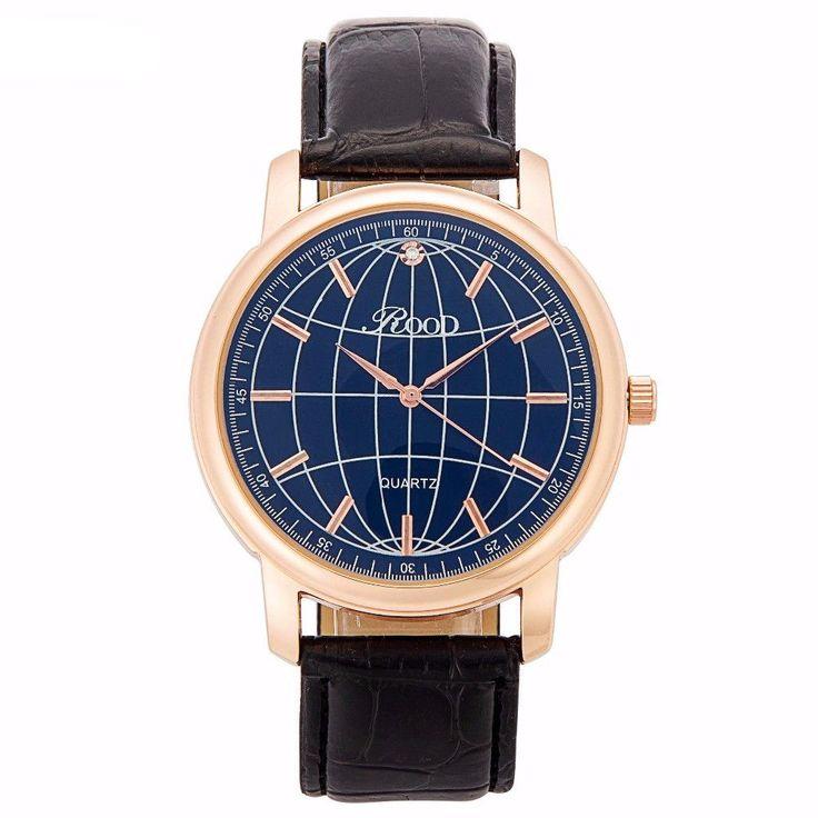 Elegant Globe Watch for Men