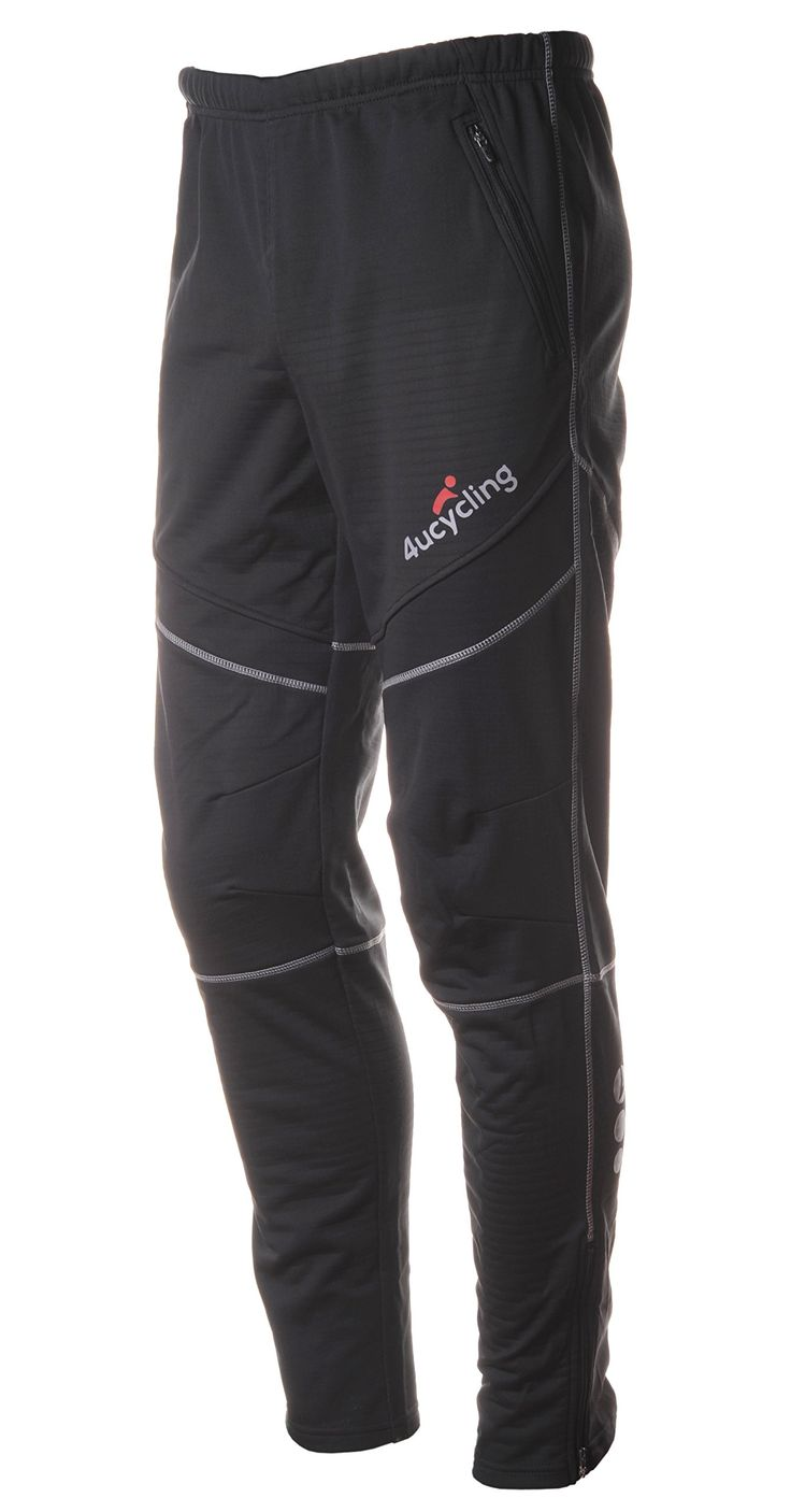 $33 - 4ucycling Men's Bike Pants Fleeced for Cold Weather, Black, S