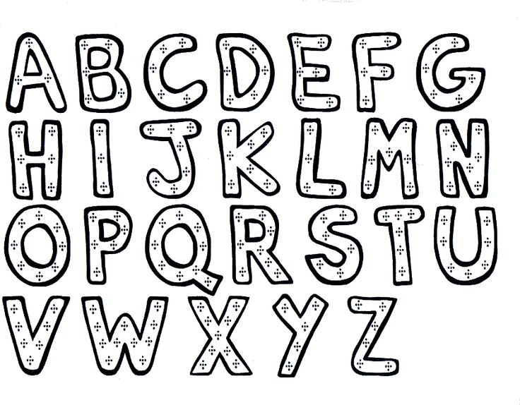 coloring pages with alphabet