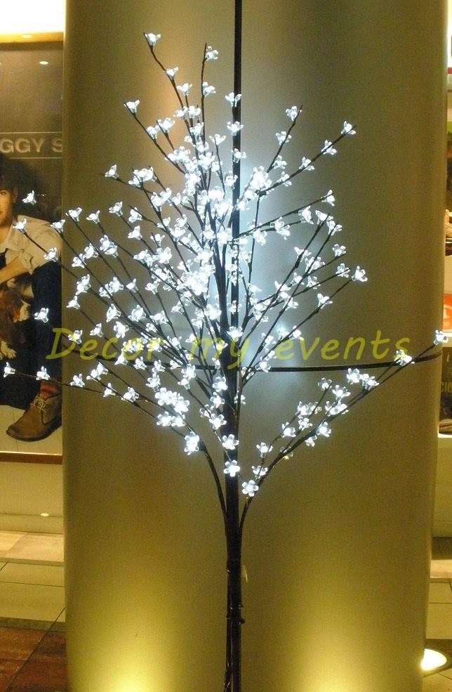 Sakura tree led elegante rbol de cerezo con flores transparentes y luz led de color blanco - Luces arbol de navidad ...