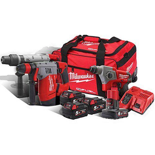 1 x M18CHM SDS-Max Hammer Drill 1 x M18CHPX SDS Hammer Drill 1 x M12CH SDS Hammer Drill 3 x M18B5 18v 5.0 Ah REDLithium Batteries & 1 x M12B6 12v 6.0 Ah REDLithium...