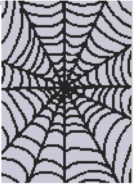 Spider Web Cross Stitch Pattern