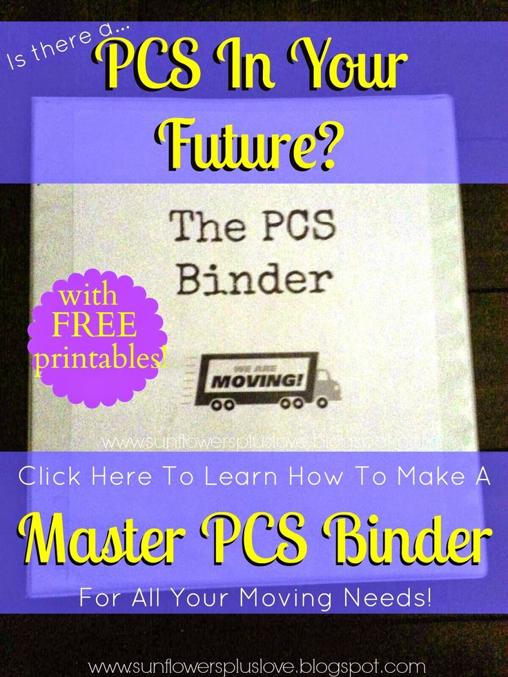 PCS Move coming soon? Here's how to make your own PCS Binder, with FREE printables!!!