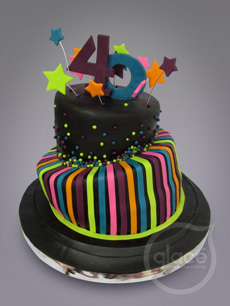 Torta de cumplea os 40 a os creativas pinterest cakes - Ideas para cumpleanos 2 anos ...