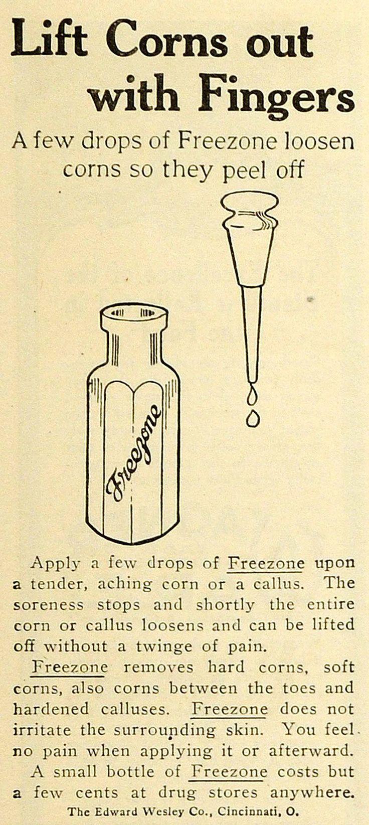1918 Ad Edward Wesley Co Cincinnati Freezone Drops Callus Corn Feet Skin TMP2