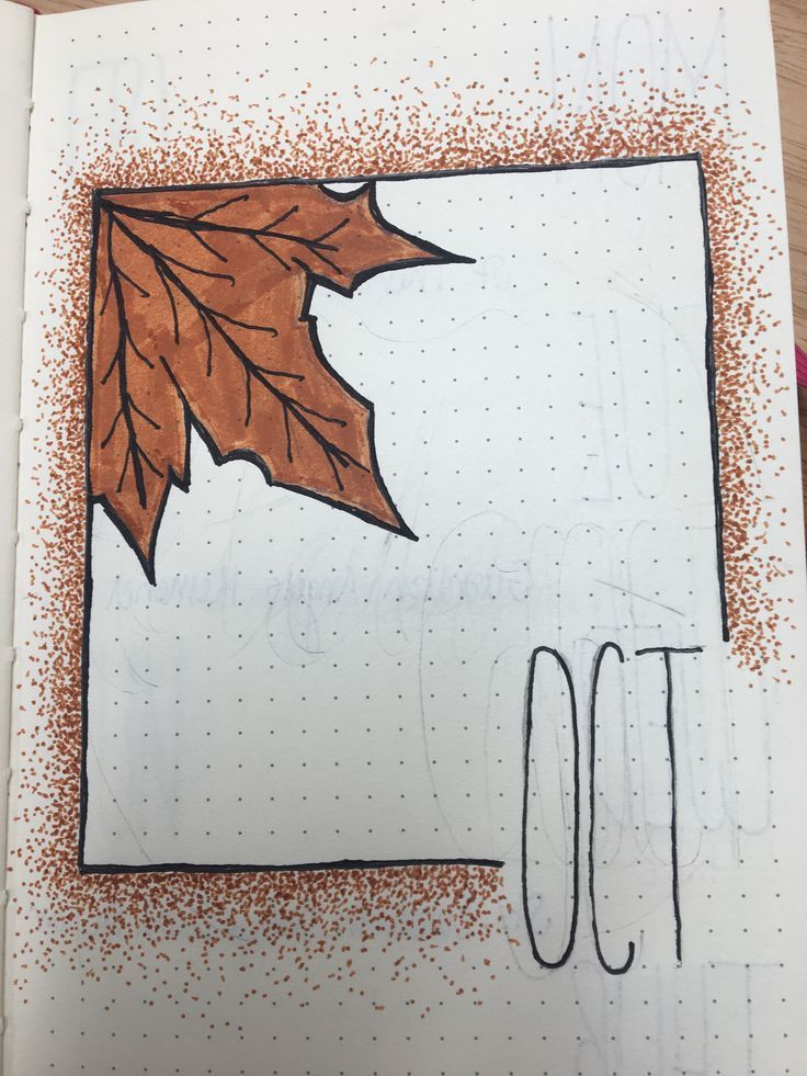 October bullet journal 2018