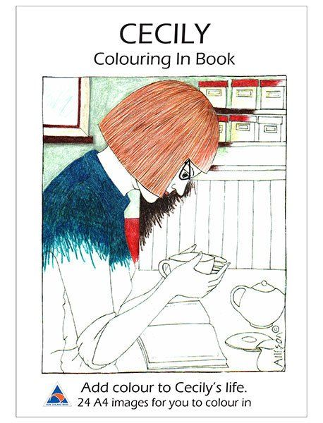 Colouring in book