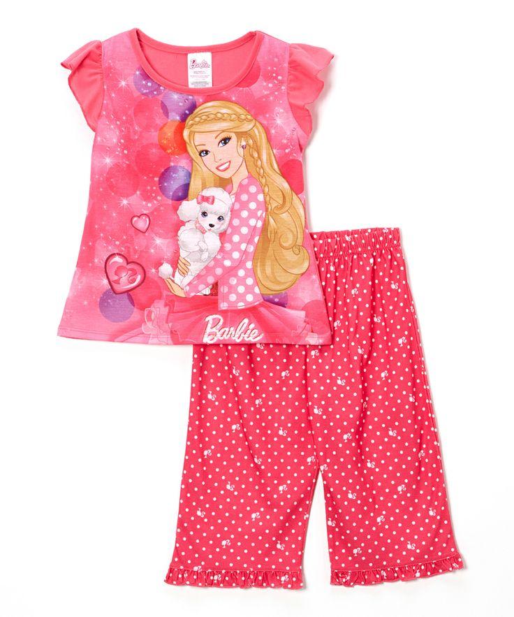 Pink Polka Dot Barbie Pajama Set - Girls | Daily deals for moms, babies and kids