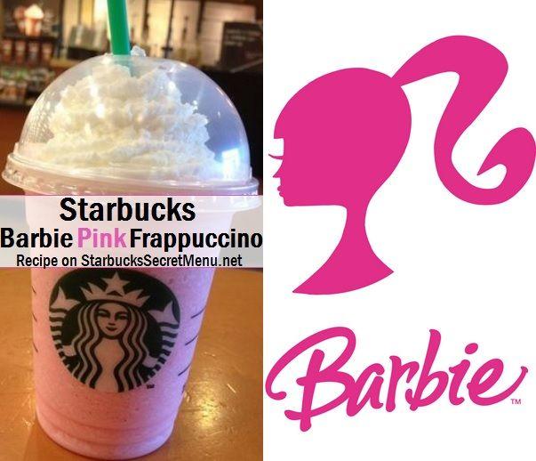 Barbie Pink Frappuccino via Starbucks Secret Menu! Recipe here: http://starbuckssecretmenu.net/starbucks-secret-menu-barbie-pink-frappuccino/