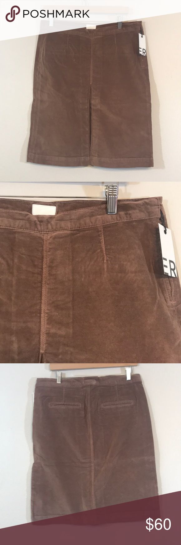 Mother velour skirt Brand new with tags MOTHER Skirts Pencil