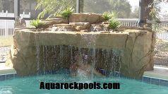 piscina nueva talla cascadas mano y naturales, estanques características del agua, diseños de la piscina