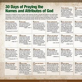 30 Days of Praying the Names and Attributes of God - The Navigators