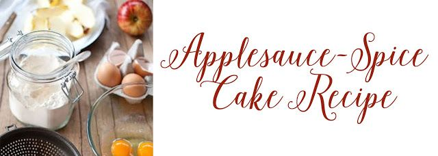 Amore Beaute: Applesauce-Spice Cake
