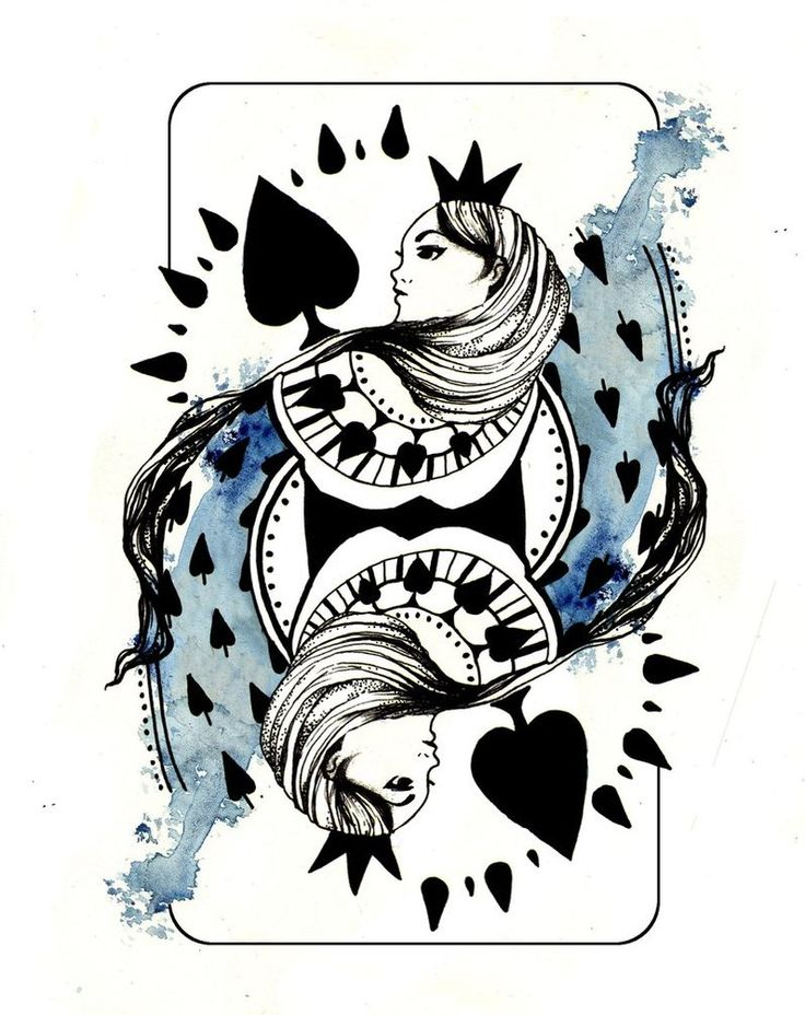 best 25 queen of spades tattoo ideas on pinterest playing card tattoos vintage playing cards. Black Bedroom Furniture Sets. Home Design Ideas