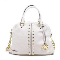 Michael Kors Uptown Astor Large Satchel Leather Shoulder Bag Vanilla From Michael Kors - Bags or