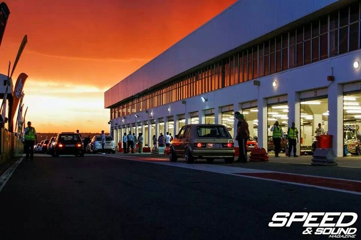 Sunset at Kyalami Drags, South Africa. Photo by Speed & Sound magazine