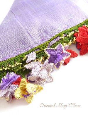 画像2: アイドゥン|アンティークオヤスカーフ|シルク糸|カラフル