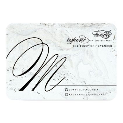 #Modern Marble Wedding Reply Card | Black - #weddinginvitations #wedding #invitations #party #card #cards #invitation #elegant