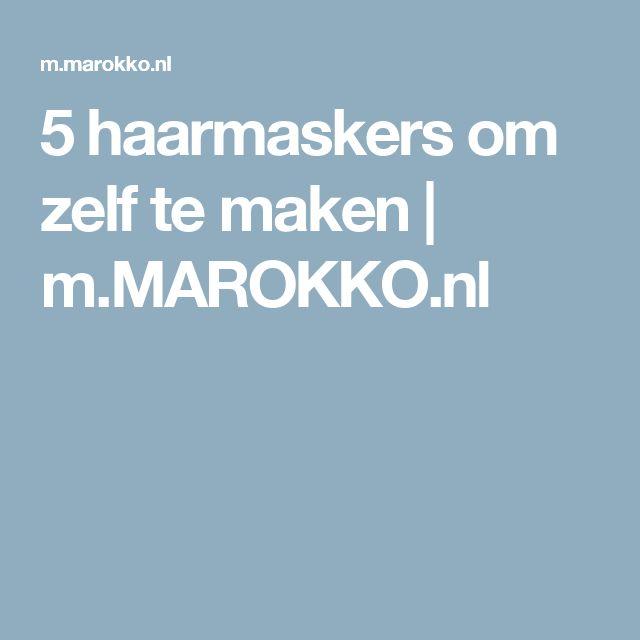 5 haarmaskers om zelf te maken    m.MAROKKO.nl
