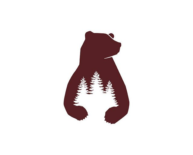 Bear Country Logo. Image by Brandon Santiago #Illustration #Logo #Bear