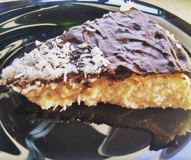 Ciasto jagielnik Bounty - bezglutenowe, mocno kokosowe, bez cukru